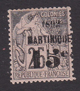 Martinique, Scott #30, Mint Hinged, French Issue Surcharged, Issued 1892 - Martinique (1886-1947)
