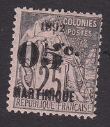 Martinique, Scott #31, Mint Hinged, French Issue Surcharged, Issued 1892 - Martinique (1886-1947)
