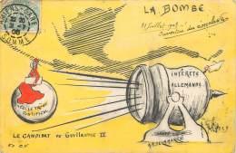 Fantaisie - Anticlérical - ILLUSTRATION SATIRIQUE PAR A.F. Delamarre - La Bombe - Le Candidat De Guillaume II - Personaggi