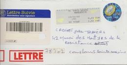 Prêt à Poster Timbre Demain L'euro En Lettre Suivie Et Vignette De Guichet En Complément - Entiers Postaux