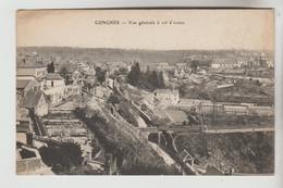 CPA CONCHES EN OUCHE (Eure) - Vue Générale à Vol D'oiseau - Conches-en-Ouche