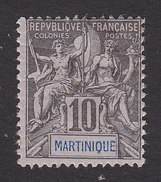 Martinique, Scott #38, Mint Hinged, Navigation And Commerce, Issued 1892 - Martinique (1886-1947)