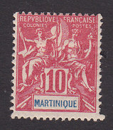 Martinique, Scott #39, Mint Hinged, Navigation And Commerce, Issued 1892 - Martinique (1886-1947)