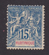 Martinique, Scott #40, Mint Hinged, Navigation And Commerce, Issued 1892 - Martinique (1886-1947)