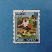 1995 AZERBAIJAN AZERBAYCAN FRANCOBOLLO USATO STAMP USED - SPORT CALCIO CAMPIONATI DEL MONDO FRANCIA 98 400 M - Azerbaijan