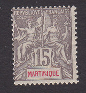Martinique, Scott #41, Mint Hinged, Navigation And Commerce, Issued 1892 - Martinique (1886-1947)