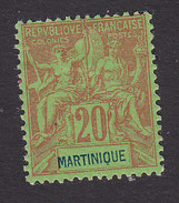 Martinique, Scott #42, Mint Hinged, Navigation And Commerce, Issued 1892 - Martinique (1886-1947)