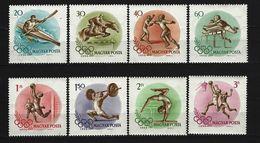 UNGARN - Mi-Nr. 1472 - 1479 Olympische Sommerspiele, Melbourne Postfrisch