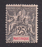 Martinique, Scott #43, Mint Hinged, Navigation And Commerce, Issued 1892 - Martinique (1886-1947)