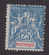 Martinique, Scott #44, Mint Hinged, Navigation And Commerce, Issued 1892 - Martinique (1886-1947)