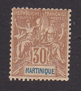 Martinique, Scott #45, Mint Hinged, Navigation And Commerce, Issued 1892 - Martinique (1886-1947)