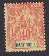 Martinique, Scott #47, Mint Hinged, Navigation And Commerce, Issued 1892 - Martinique (1886-1947)