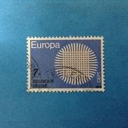 1970 BELGIO BELGIE BELGIQUE FRANCOBOLLO USATO STAMP USED - EUROPA CEPT 7 F