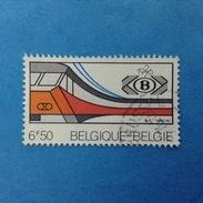 1976 BELGIO BELGIE BELGIQUE FRANCOBOLLO USATO STAMP USED - ANNIVERSARIO FERROVIA NAZIONALE TRENO 6 F 50