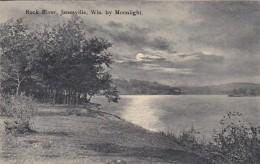 Wisconsin Janesville Rock River By Moonlight - Janesville