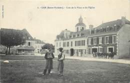 France - 66 - Gan - Coin De La Place Et De L ' Eglise - Altri Comuni