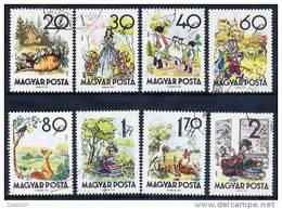 HUNGARY 1960 Fairy Tales Set Used.  Michel 1718-25