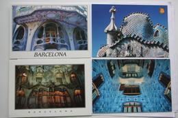 5 Postcards Lot -  Barcelona ( Espana )  - Gaudi -Casa Batllo - Barcelona
