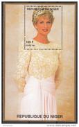 945d Niger 1997 Principessa Princess Of Wales Lady Diana White Dress E Corona  Sheet Nuovo  MNH