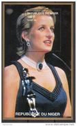 945e Niger 1997 Principessa Princess Of Wales Lady Diana Black Dress And  Jewelry  Sheet Nuovo  MNH