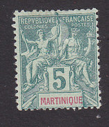 Martinique, Scott #36, Mint Hinged, Navigation And Commerce, Issued 1892 - Martinique (1886-1947)