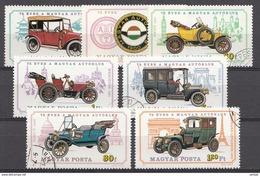 Hongrie 1975 Mi.Nr: 3031-3037 Ungarischer Autoklub Oblitèré / Used / Gebruikt