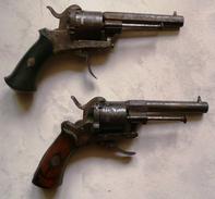 Lot De 2 Revolver à Broche Type Lefaucheux 7mm