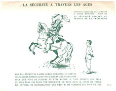 """D 7) Buvard  """"Sécurité Sociale""""   (poids De L'Ex..p Moins De 20 Gr) - Blotters"""