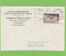 LETTRE DE LA S.P.A. POUR MR LE BOURGEMESTRE DE WEILER LA TOUR,VIA ASPELT(CACHET)EN 1959.