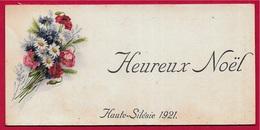 CPA Carte Mignonnette Noël HAUTE-SILESIE 1921 Militaria Présence Française Fleurs Bleuets Marguerite Coquelicot Pologne - Guerra 1914-18