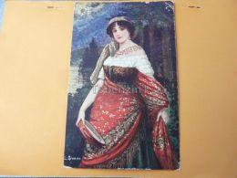 Girl Woman Frau NÅ' Hölgy Carmen - Ansichtskarten