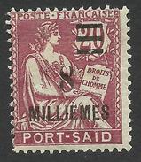 Port Said, 8 M. On 20 C. 1925, Sc # 75, Mi # 75, MH - Port Said (1899-1931)