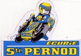 Autocollant Moto Ecurie Sté Pernod. Années 70. - Stickers