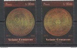 PERU ,2016 ,MNH, OLD COINS, 2v
