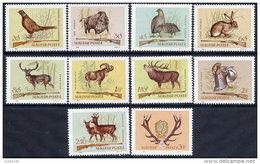 HUNGARY 1964 Hunting: Game Animals Set Of 10 MNH / **.  Michel 2079-88 - Hungary