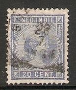 004263 Netherlands Indies 1892 20c FU - Niederländisch-Indien