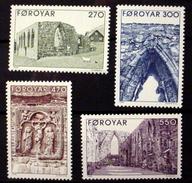 FAROE ISLANDS # 182-185.  Kirkjubour Cathedral. MNH (**) - Faroe Islands