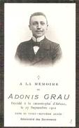 DP. ANDONIS GRAU + A LA CATASTROPHE D'ARLEUX 1902 - VINGT-SEPTIEME ANNEE