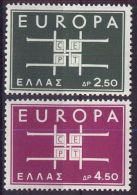 GRIECHENLAND MI-NR. 821/22 ** MNH - CEPT 1963 - Europa-CEPT