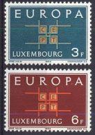 LUXEMBURG MI-NR. 680/81 ** MNH - CEPT 1963 - Europa-CEPT