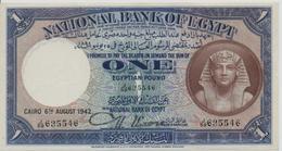 EGYPT  P. 22c 1 P 1944 XF - Egitto