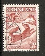 004278 Greenland 1966 Legends 50o FU - Greenland