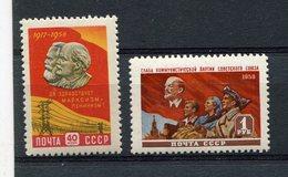 RUSSIA YR 1958,SC 2141-42,MI 2166-67, MNH,41st ANNIV OF RUSSIAN REVOLUTION