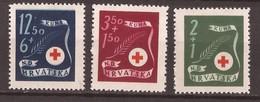 1944 167-69  Rot Kreuz  CROCE ROSSA  NDH CROAZIA HRVATSKA KROATIEN    MNH
