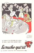 """Fr VR ) Buvard  """"Fromage La Vache Qui RIT"""" """"Cirque 1 """"   (poids De L'Ex..p Moins De 20 Gr) - Produits Laitiers"""