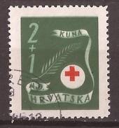 1944 167-69  Rot Kreuz  CROCE ROSSA  NDH CROAZIA HRVATSKA KROATIEN    USED