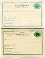 Sweden 2 Postcards Circa 1900