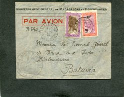Madagascar Airmail  Cover 1935