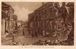 GORLICE  -  DER UNTERE STADTTEIL VON GORLICE NACH DER ERSTÜRMUNG  -  Octobre 1916 ( Tampon  Aérostier ) - Pologne