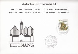 BRD 1624 Auf Sonderkarte Mit Jahrhundertstempel: 7992 Tettnang 7.9.92 - [7] República Federal